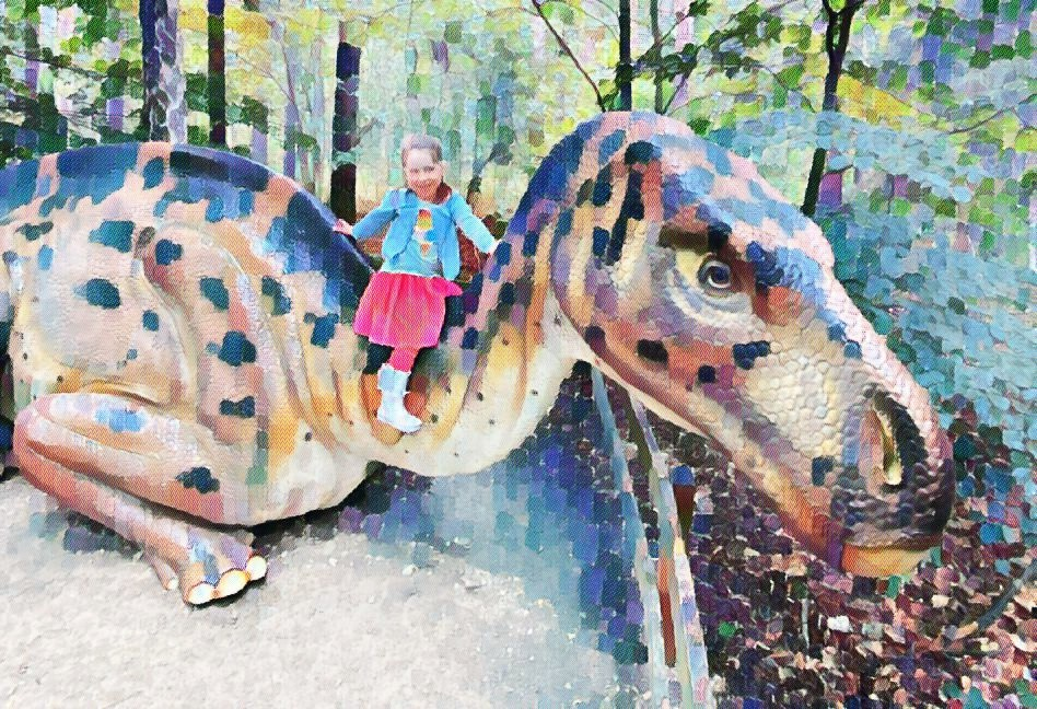 Who is Mrs Maiasaura? Minisaurus, by chance with a Maiasaura at Münchehagen Dinosaurier Park.