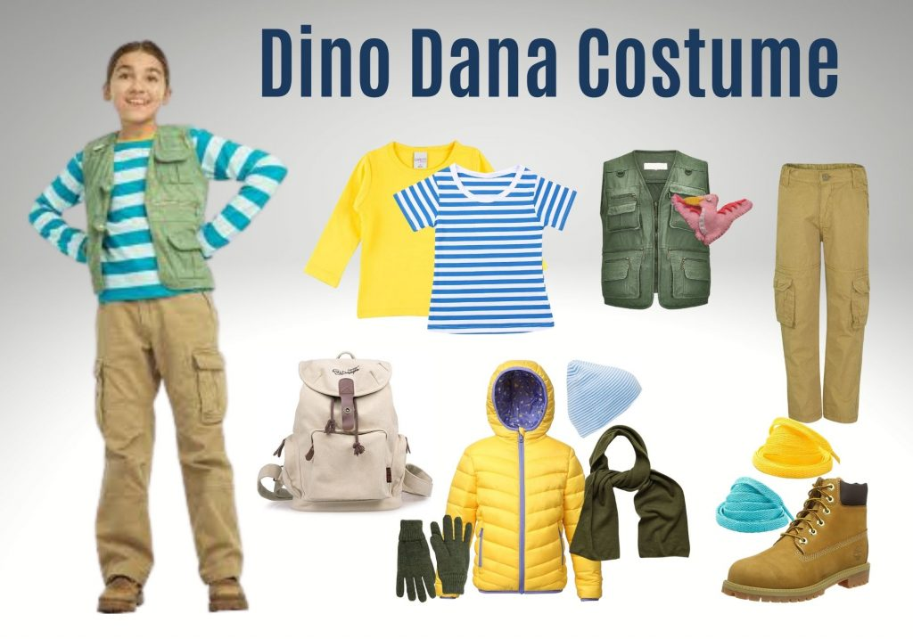 Is your child a fan of Dino Dana? Here's what you need to make your own Dino Dana costume; Dino Dana Halloween costume for dinosaur fans (and Dino Dana fans)