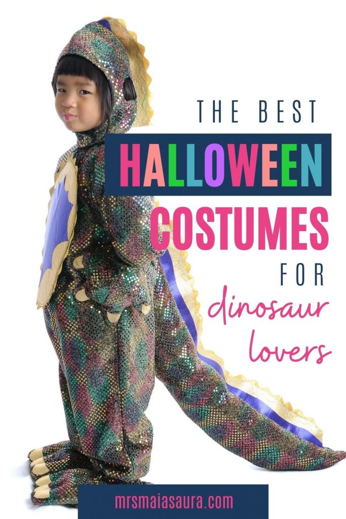 The best Halloween costumes for dinosaur fans. Go beyond the simple dinosaur Halloween costume and check out our list to find a creative dinosaur-themed costume you are sure to love. Buy or DIY dinosaur costumes. for all ages, including dogs.