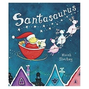 The best dinosaur Christmas books: Santasaurus