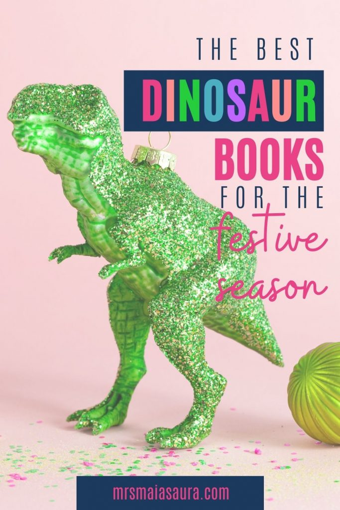 The best dinosaur books for the festive season. We've gathered together our favourite 19 books for Christmas, Hanukkah, Divali and more - grab the list and find the a great gift for your little dinosaur lover. #dinochristmas #dinohanukkah #dinodivali #RAWR #mrsmaiasaura