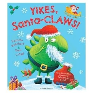 Great dinosaur Christmas books: Yikes, Santa-CLAWS!