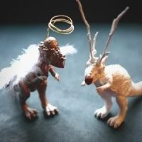 2 simple dinosaur Christmas decorations: How to make an Angelsaur or a Reindino, with a Pachycephalosaur Angelsaurus and Carnosaurus Reindeer