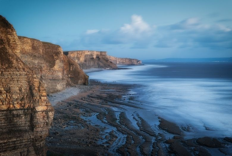 The Jurassic Coast, where Keates Quarry and the real dinosaur footprints can be found.
