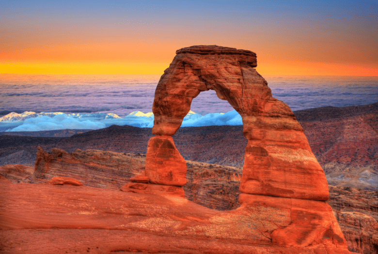 Large sandstone arch at Arches National Park