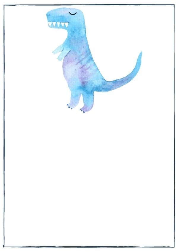 Dinosaur recipes and crafts: watercolour T-Rex as category image