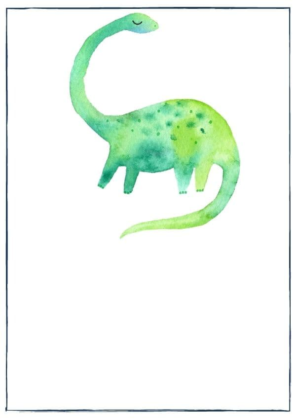 Dinosaur parks and museums: Watercolour Brontosaurus as category image
